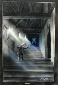 Krabat Entwürfe-Treppe in der Mühle