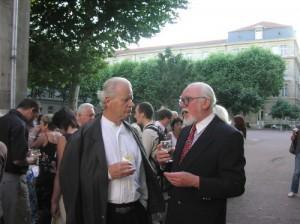 Angerer der Ältere und Roger Erasmy im Gespräch