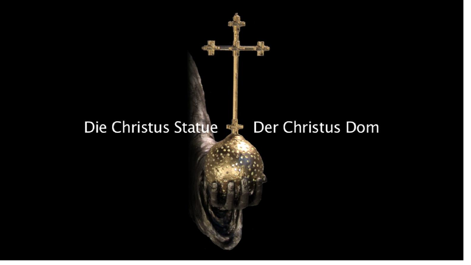 Eine Christus Statue als Christus Dom - Videofilm