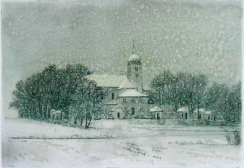 Wallfahrtskirche Allersdorf im Winter