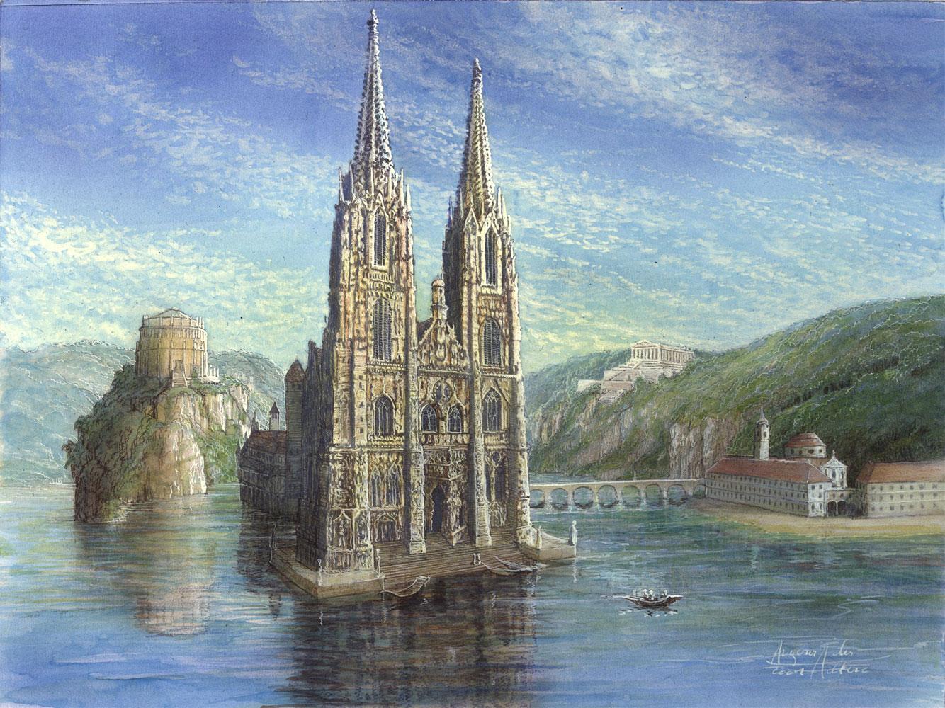 An der schönen blauen Donau - Auftragskunst