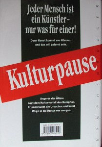 Buch Kulturpause - Rückseite