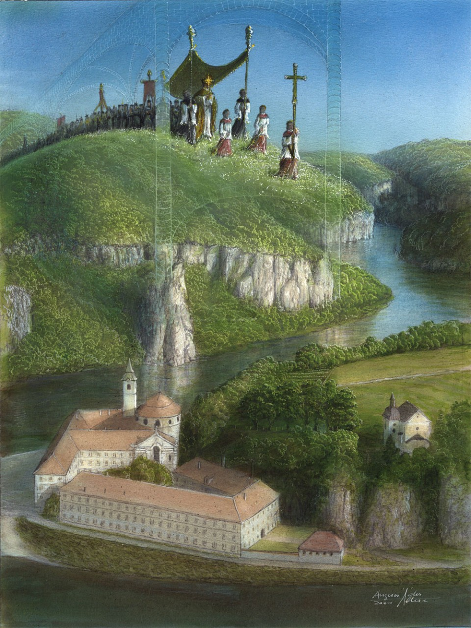 Kloster Weltenburg phantastisch - Auftragskunst