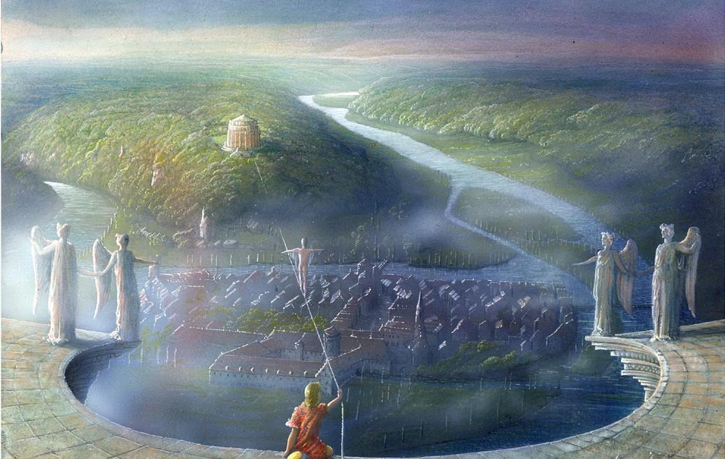 das zauberband führt zur befreiungshalle