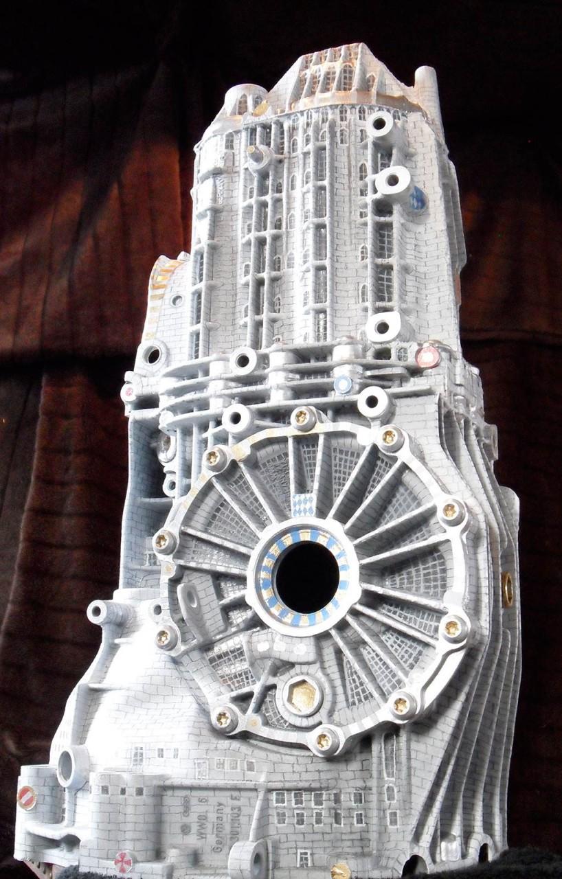 Audi Getriebe als phantastische Architektur