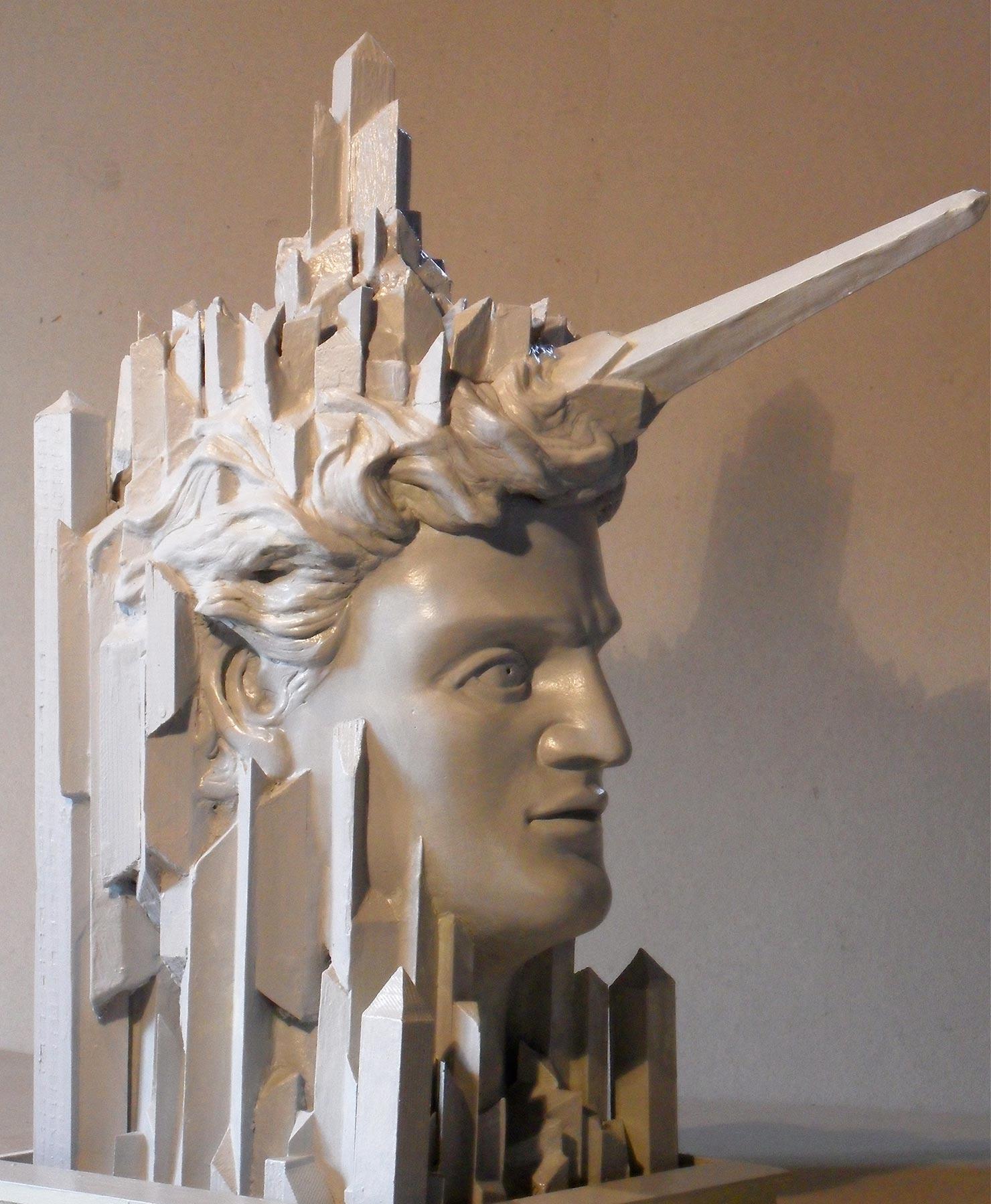 Der Architekt, aus Marmor oder Bronze - verkäuflich
