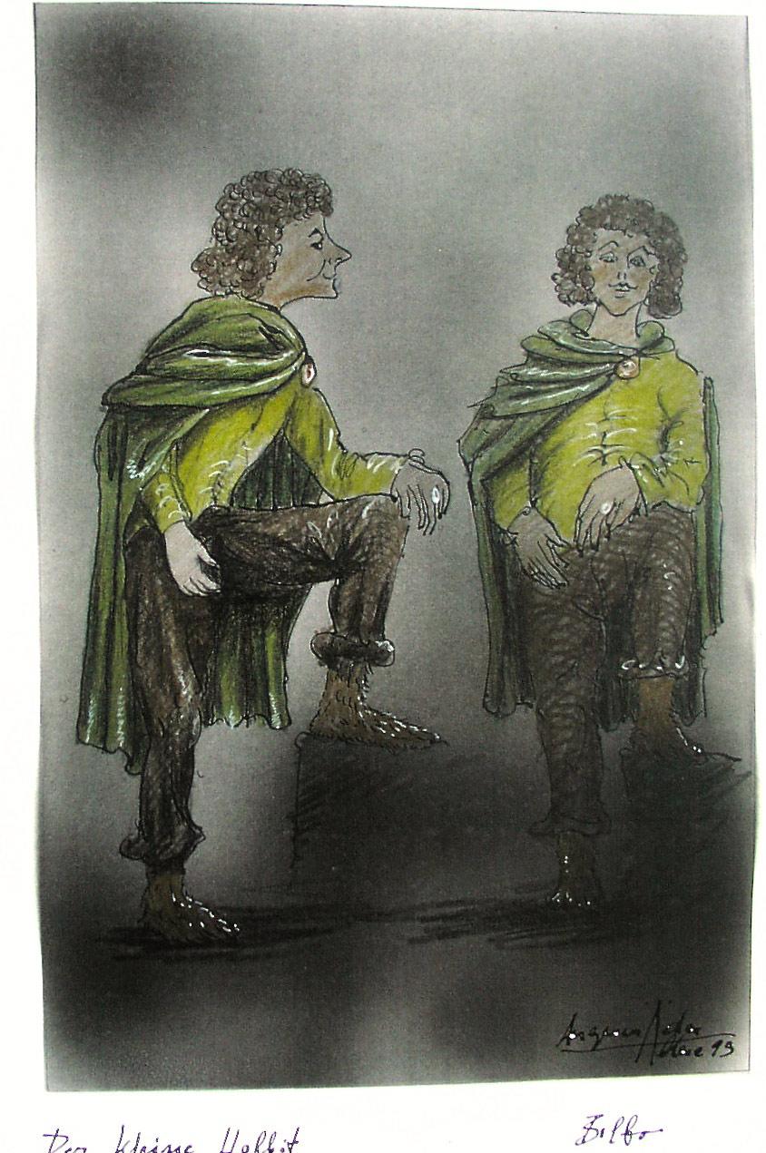 """Theaterwelturaufführung """"Der kleine Hobbit"""" nach J.R.R. Tolkien. Bilbo Beutlin im Theater für Kinder."""