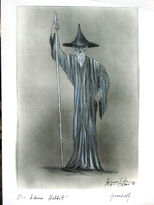 """Theaterwelturaufführung """"Der kleine Hobbit"""" nach J.R.R. Tolkien. Gandalf im Theater für Kinder."""