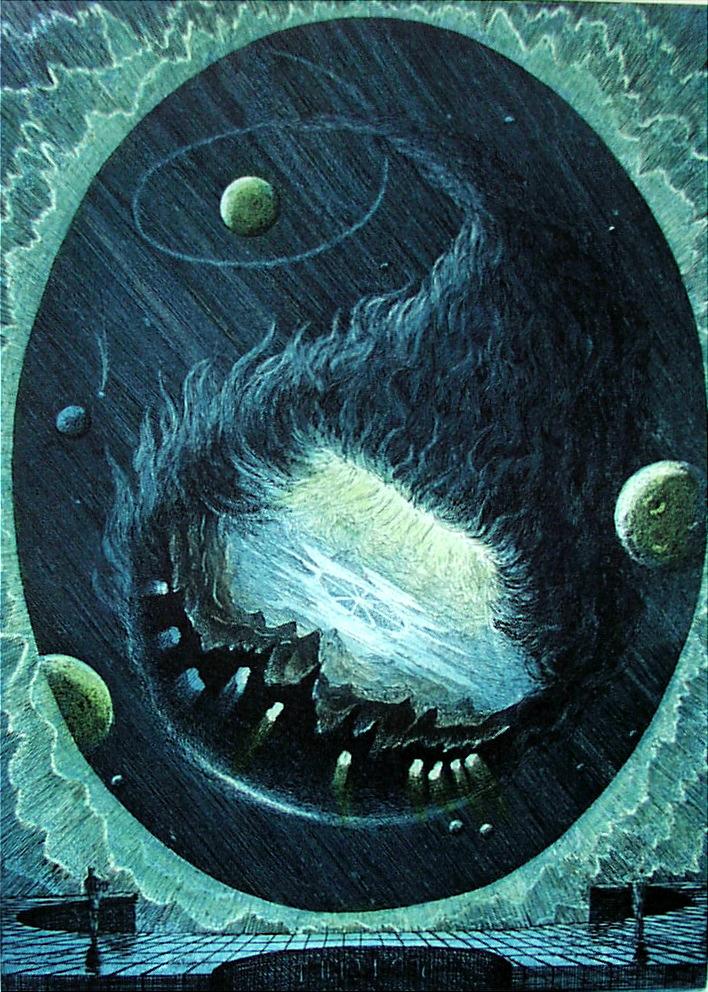 Der Komet, Farbradierung - verkäuflich
