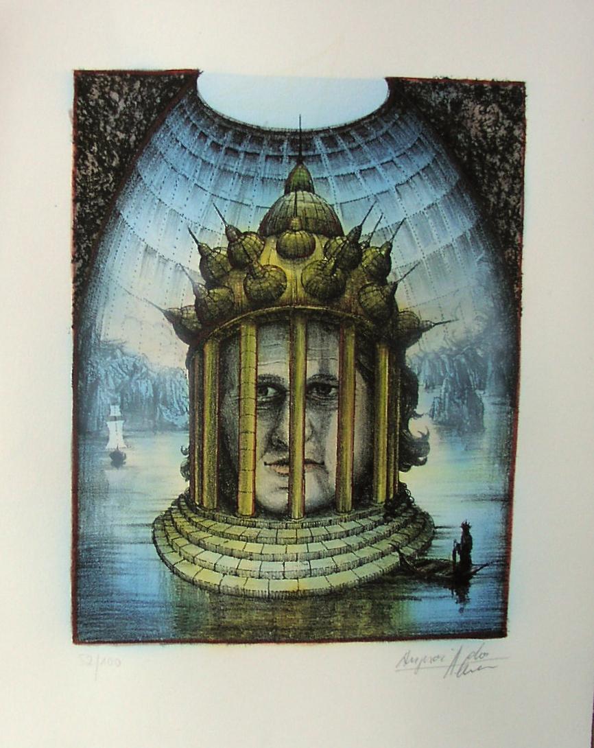 Der Templer, handcoloriert - verkäuflich