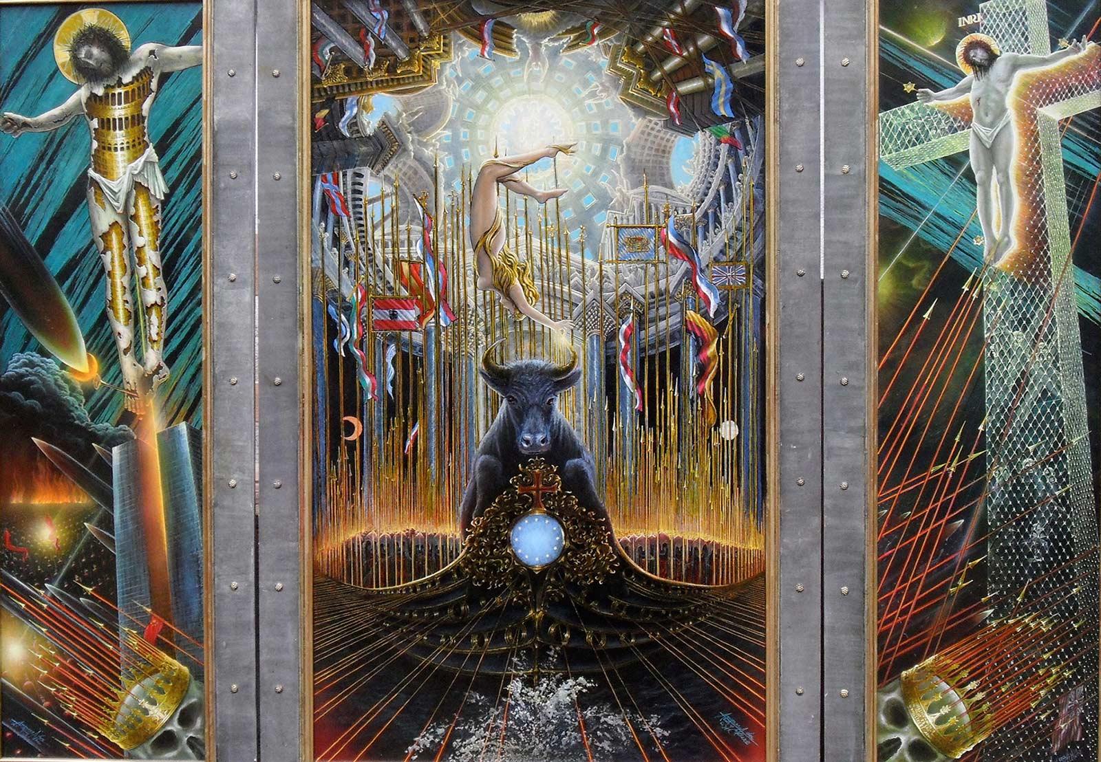 Die Seele Europas - Europäische Union - Triptychon