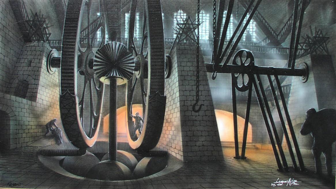 Gemälde zum Buch Krabat von otfried preussler