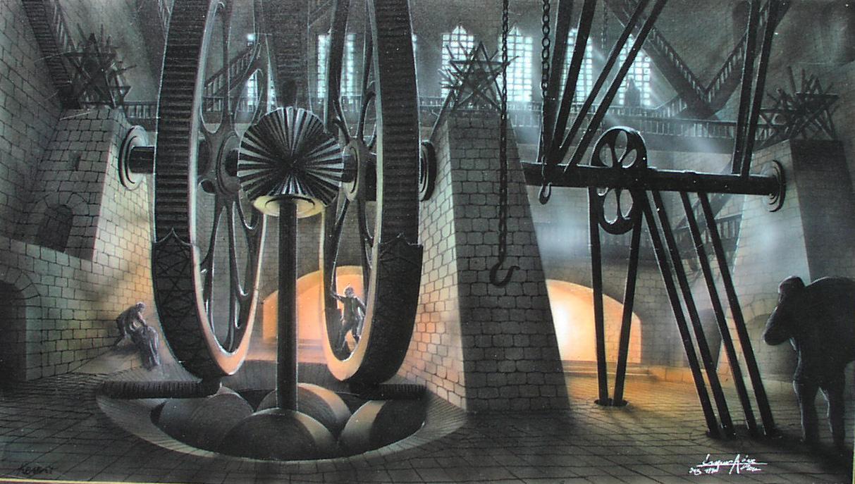 Entwurf für KRABAT nach Otfried Preußler Die großen Mühlräder - verkäuflich