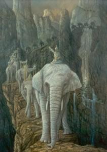 Hannibal überquert die Alpen