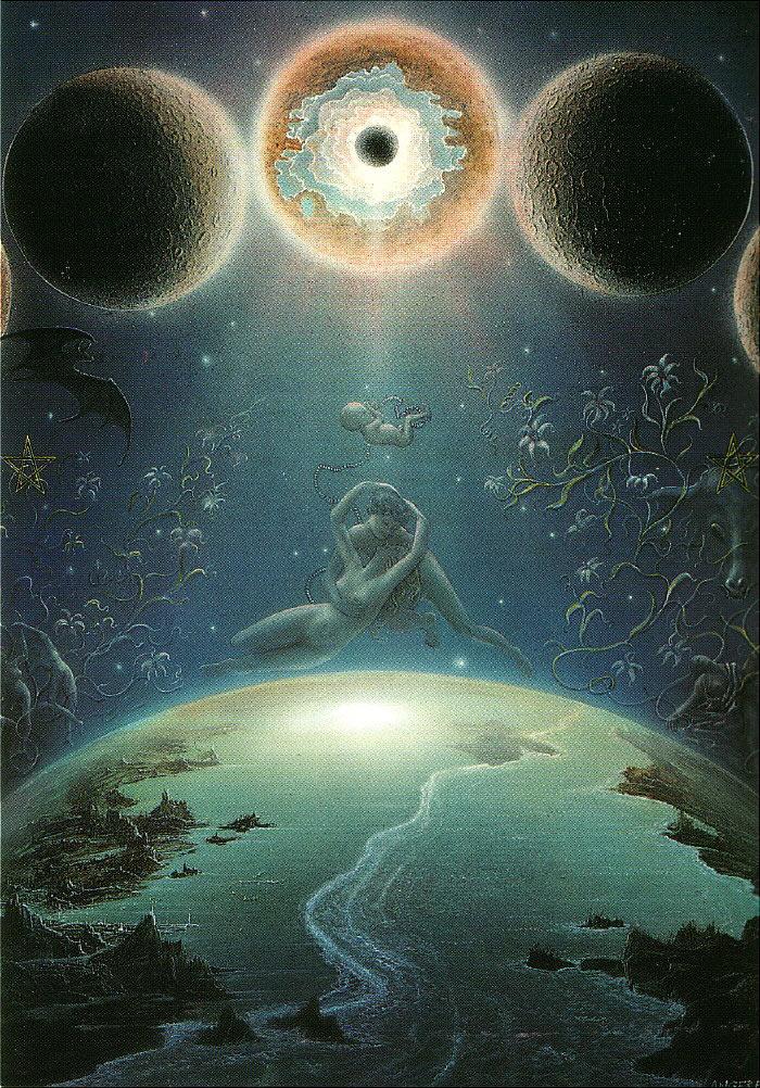 Die Macht des Mondes - Spiegeltitelbild 40/50 cm verkäuflich