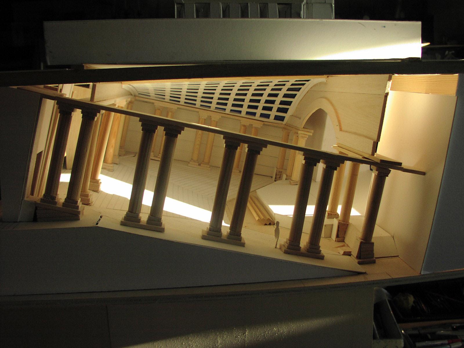 Modell Museum der Phantastik mit schrägem Saal