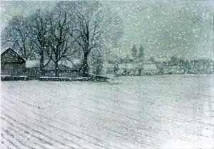 Schneetreiben in Biburg