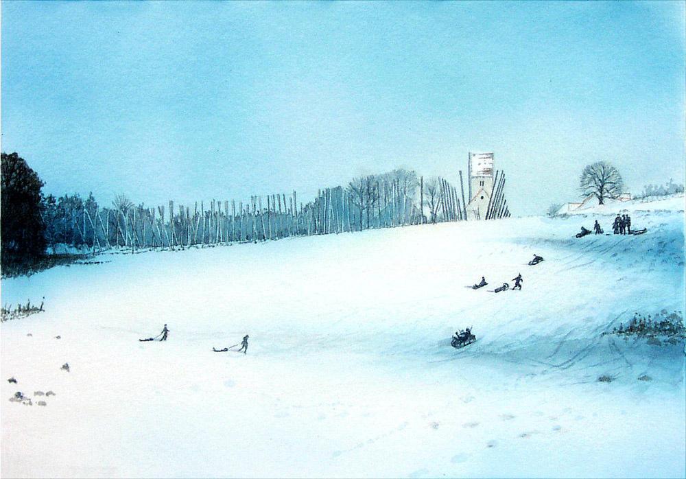 Winter in Perka - verkäuflich