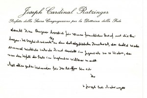 Brief von Papst Benedikt XVI