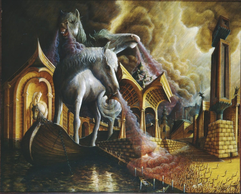 das trojanische pferd in der griechischen mythologie