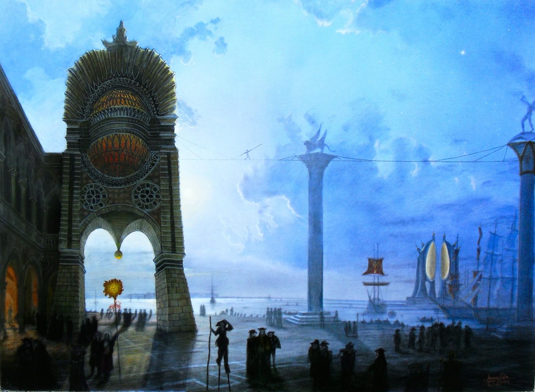 Venedig von Friedrich Nerly-200 Jahre später mit Architektur von Angerer der Ältere