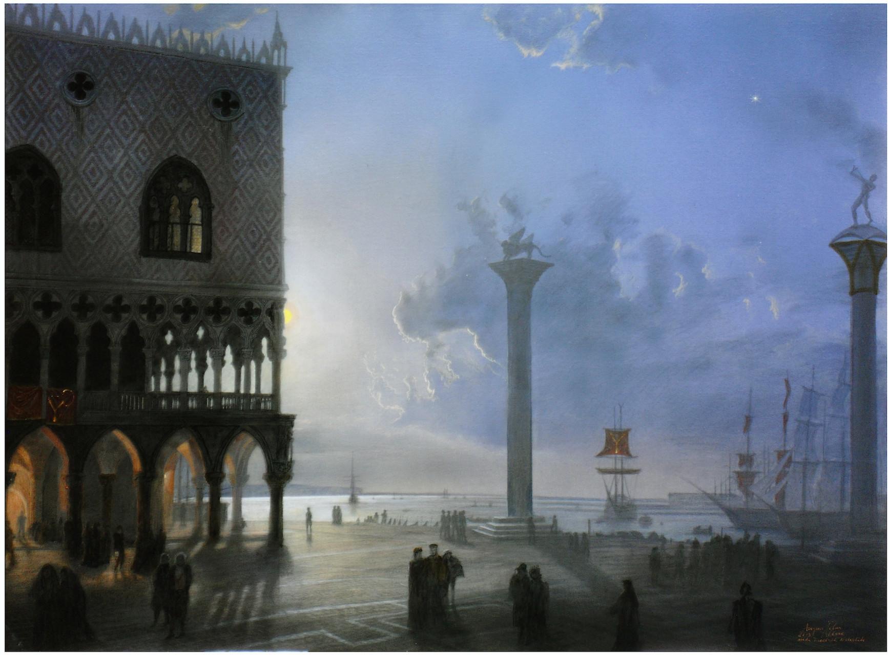 Friedrich Nerly 200 Jahre später von Angerer der Ältere nachempfunden