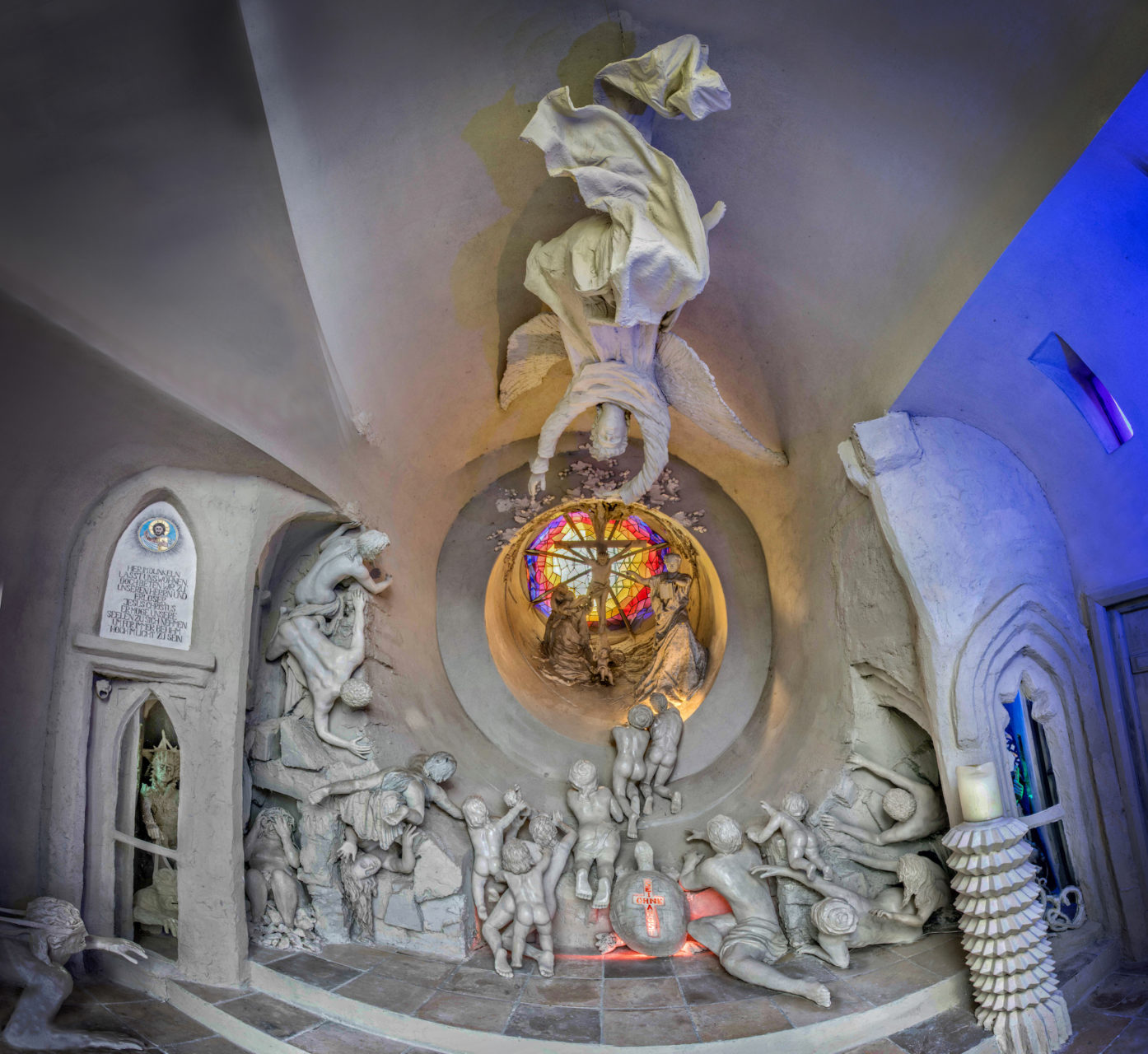 Erlöserkapelle im Innern - Panoramafoto E. Hillisch