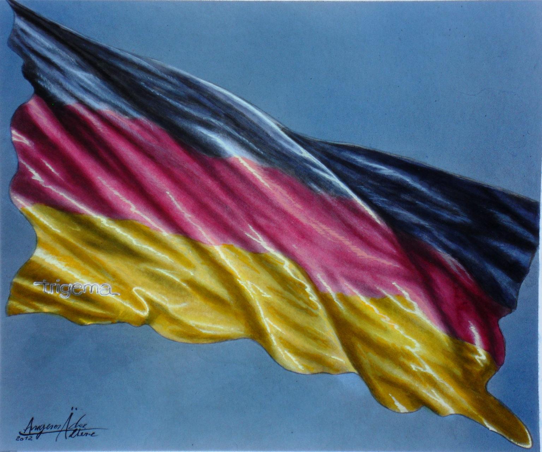 Deutschlandflagge-Auftragskunst