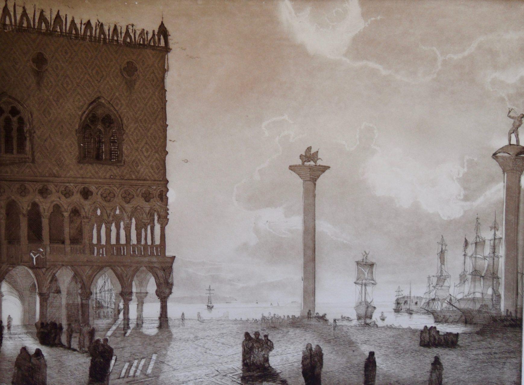 Huckleberry Friends-Venedig nach Friedrich Nerly-Auflage im Auftrag-EA verkäuflich
