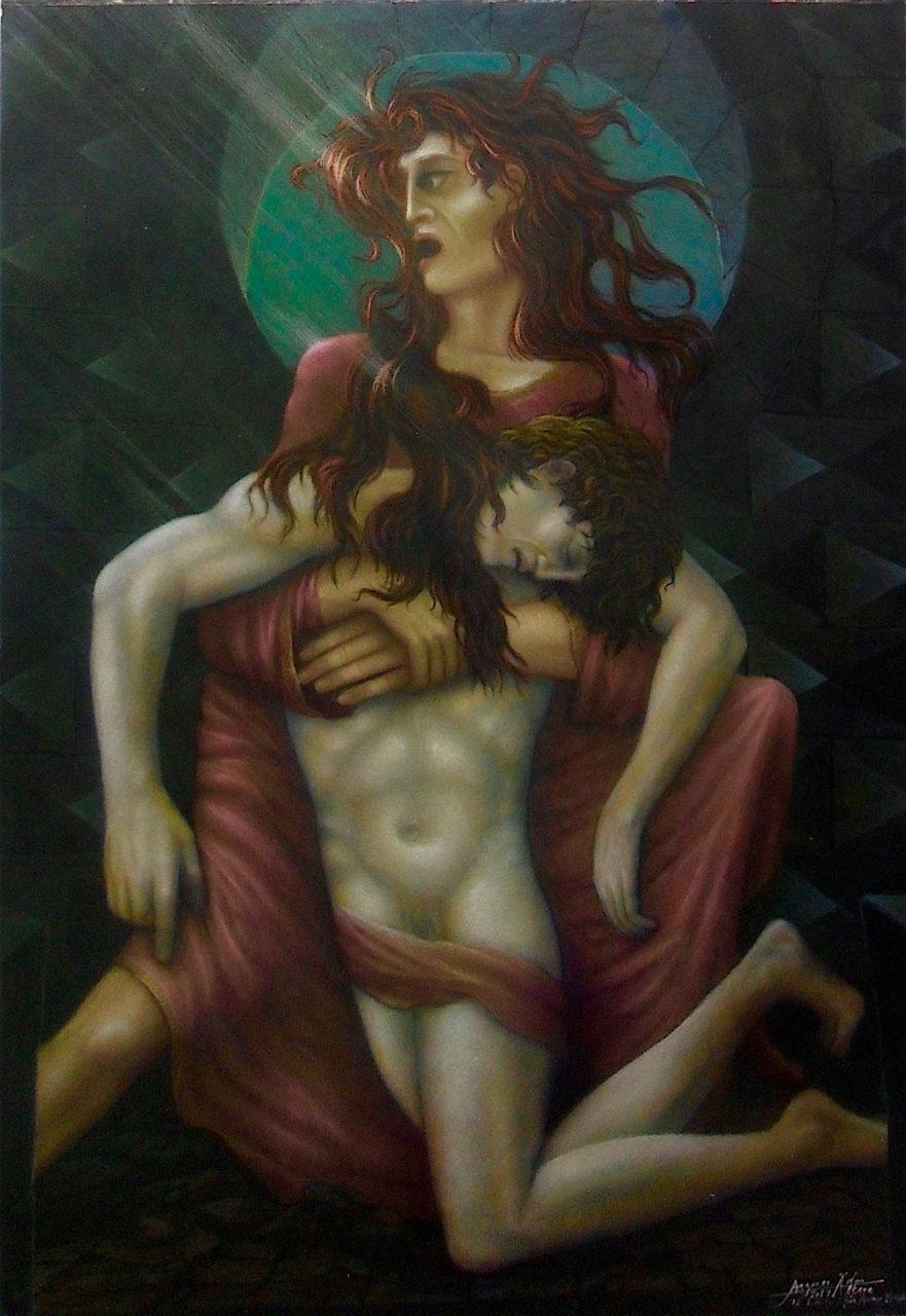 Pieta 2017 unvollendet - Teil Triptychon