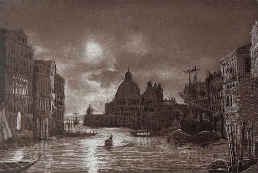 Venedig bei Nacht - Auflage im Auftrag