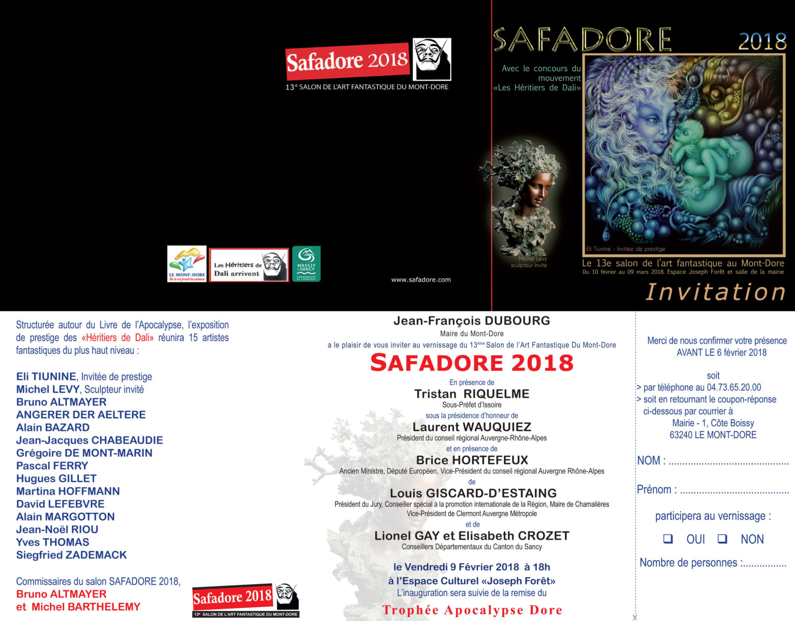 Safadore 2018 - Salon de l'art de l'imaginaire au Mont-Dore -Invitation