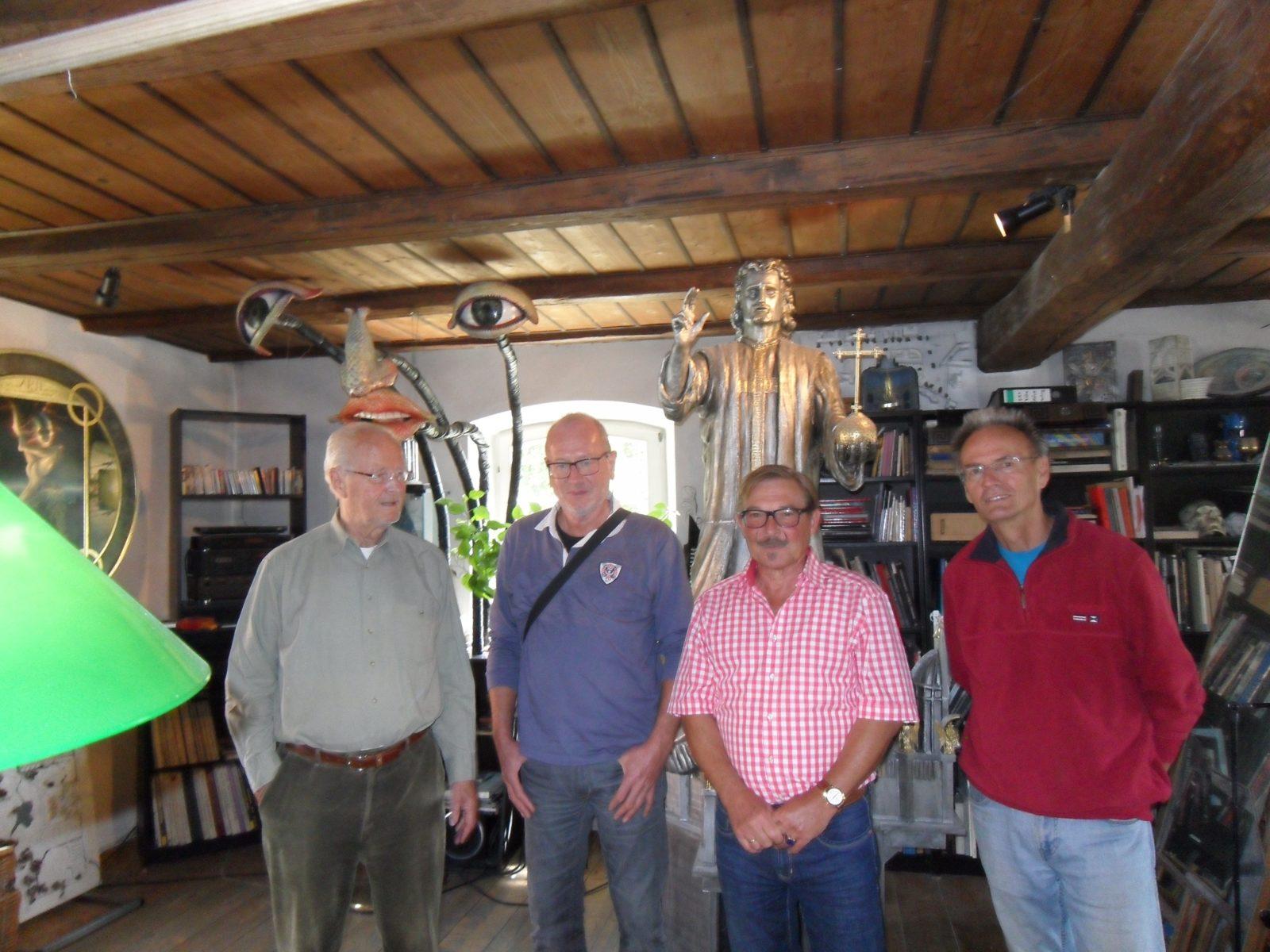 Neue Meister zu Besuch bei Angerer der Ältere in Biburg