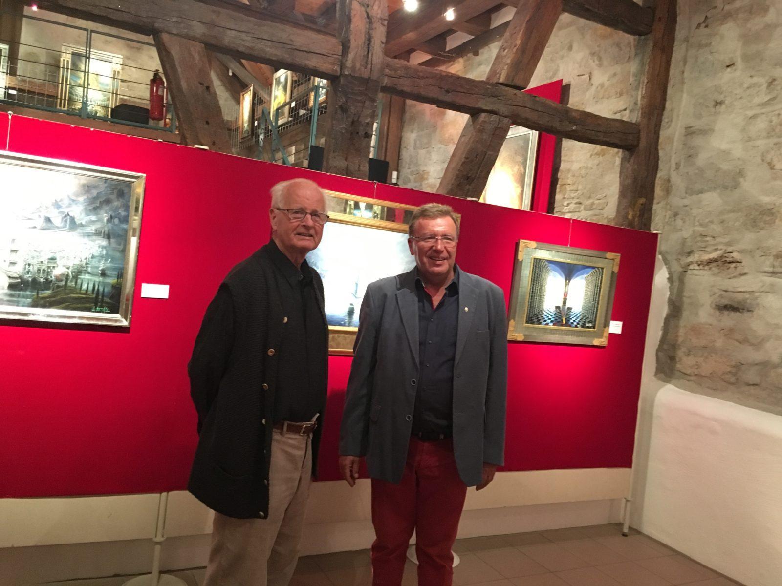 Retrospektive Angerer der Ältere mit Museumsleiter Hubert Sawatzki
