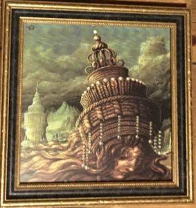 Babylonischer Haarturm - Giclée hochwertig gerahmt